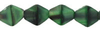 Cristal Checo - Bicono - 6mm - Matte Green with Black Swirl (25 Uds.)