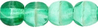 Cristal Checo - Bola - 4mm - Green & White (50 Uds.)