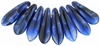Cristal Checo - Daga - 3/10mm - Blue with Black Swirl (50 Uds.)