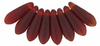 Cristal Checo - Daga - 3/10mm - Matte Ruby (50 Uds.)