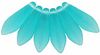 Cristal Checo - Daga - 5/16mm - Matte Teal (25 Uds.)