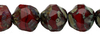 Cristal Checo - Baroque - 8mm - Red Picasso (15 Uds.)