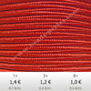 Textil - Soutache-Rayón - 3mm - Flame Red (Rojo Fuego) (2 metros)