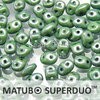 Cristal Checo - Superduo - 2,5x5mm - Marbled Green (10 gr.)