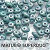 Cristal Checo - Superduo - 2,5x5mm - Marbled Blue (10 gr.)