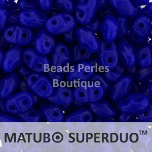 Cristal Checo - Superduo - 2,5x5mm - Opaque Sapphire (10 gr.)
