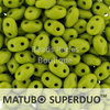 Cristal Checo - Superduo - 2,5x5mm - Opaque Olivine (10 gr.)