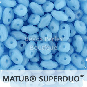 Cristal Checo - Superduo - 2,5x5mm - Opaque Blue Turquoise (10 gr.)