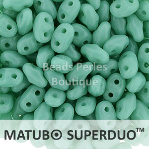 Cristal Checo - Superduo - 2,5x5mm - Opaque Turquoise (10 gr.)