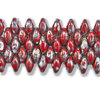 Cristal Checo - Superduo - 2,5x5mm - Opaque Red Antique Silver Picasso (10 gr.)