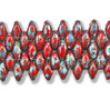 Cristal Checo - Superduo - 2,5x5mm - Opaque Red Picasso (10 gr.)
