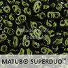 Cristal Checo - Superduo - 2,5x5mm - Metallic Green (10 gr.)
