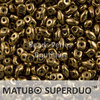 Cristal Checo - Superduo - 2,5x5mm - Bronze (10 gr.)