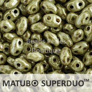 Cristal Checo - Superduo - 2,5x5mm - Opaque Ultra Luster Green (10 gr.)