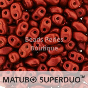 Cristal Checo - Superduo - 2,5x5mm - Lava Red (10 gr.)