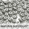 Cristal Checo - Superduo - 2,5x5mm - Marbled Grey (10 gr.)