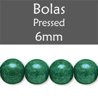 Cristal Checo - Bola - 6mm - Marbled Green (25 Uds.)