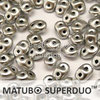 Cristal Checo - Superduo - 2,5x5mm - Silver Satin (10 gr.)