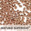 Cristal Checo - Superduo - 2,5x5mm - Copper Satin (10 gr.)