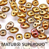 Cristal Checo - Superduo - 2,5x5mm - Gold Iris Satin (10 gr.)