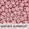 Cristal Checo - Superduo - 2,5x5mm - Marbled Pink & Lilac (10 gr.)