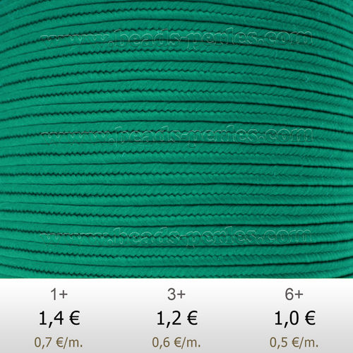 Textil - Soutache-Poliester - 3mm - Persian Turquoise (Turquesa Persa) (2 metros)