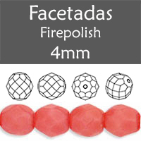 Cristal Checo - Facetada - 4mm - Carnation Pink (100 Uds.)
