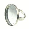 Fornitura - Base Anillo - 25mm - Aro ajustable - Plata Antigua (1 Uds.)