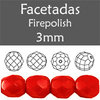Cristal Checo - Facetada - 3mm - Opaque Light Red (100 Uds.)