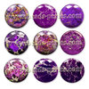 Puffy - Jaspe Emperador - 20mm - Radiant Orchid (1 Uds.)