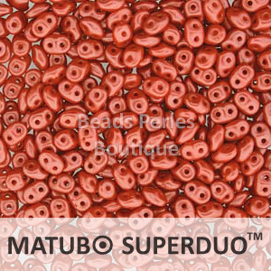 Cristal Checo - Superduo - 2,5x5mm - Pastel Coral (10 gr.)