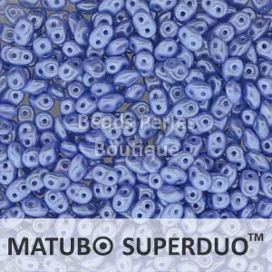 Cristal Checo - Superduo - 2,5x5mm - Pastel Periwinkle (10 gr.)