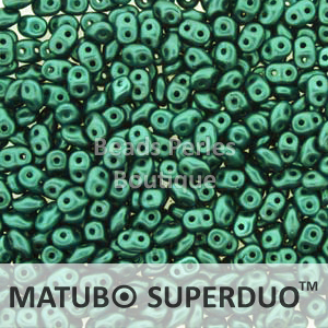 Cristal Checo - Superduo - 2,5x5mm - Pastel Jade (10 gr.)