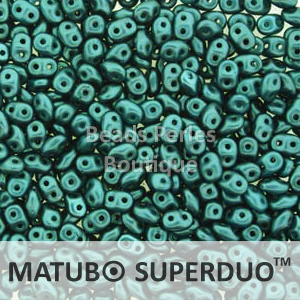 Cristal Checo - Superduo - 2,5x5mm - Pastel Teal (10 gr.)
