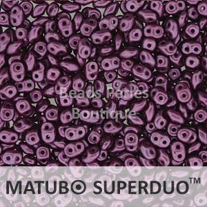 Cristal Checo - Superduo - 2,5x5mm - Pastel Purple (10 gr.)