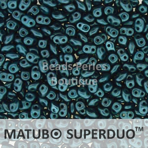 Cristal Checo - Superduo - 2,5x5mm - Pastel Dark Teal (10 gr.)