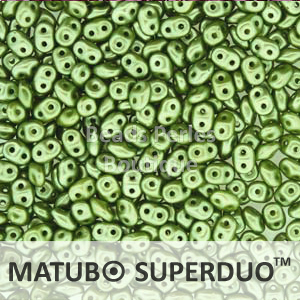 Cristal Checo - Superduo - 2,5x5mm - Pastel Olivine (10 gr.)