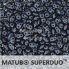 Cristal Checo - Superduo - 2,5x5mm - Pastel Navy Blue (10 gr.)