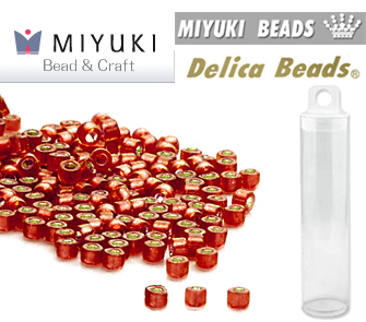 DB0683 - Miyuki - Delica - 11/0 - Silver-Lined Frosted Ruby Red (tubo de 7,6 gr.)