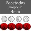 Cristal Checo - Facetada - 4mm - Snake Fire Red (100 Uds.)