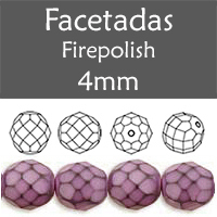 Cristal Checo - Facetada - 4mm - Snake Pink (100 Uds.)