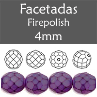 Cristal Checo - Facetada - 4mm - Snake Purple Lilac (100 Uds.)
