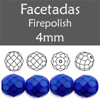 Cristal Checo - Facetada - 4mm - Snake Royal Blue (100 Uds.)