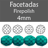 Cristal Checo - Facetada - 4mm - Snake Turquoise (100 Uds.)