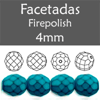 Cristal Checo - Facetada - 4mm - Snake Blue Turquoise (100 Uds.)
