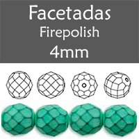 Cristal Checo - Facetada - 4mm - Snake Grayed Jade (100 Uds.)