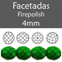 Cristal Checo - Facetada - 4mm - Snake Avocado (100 Uds.)