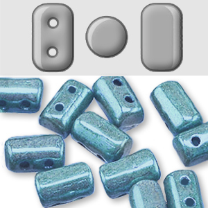 Cristal Checo - Rulla - 3x5mm - Marbled Blue (10 gr.)