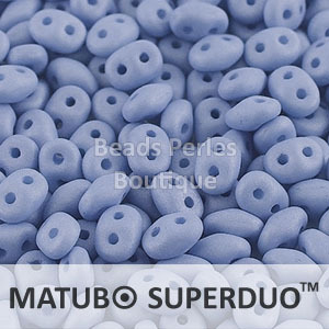 Cristal Checo - Superduo - 2,5x5mm - Silk Periwinkle (10 gr.)