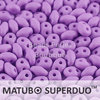 Cristal Checo - Superduo - 2,5x5mm - Silk Misty Mauve (10 gr.)